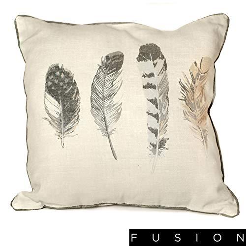 Fusion - Housse de coussin Idaho - coton - anthracite - 43 x 43 cm