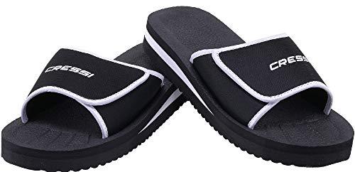 Cressi Unisex– Erwachsene Shoes Panarea Slipper für Strand und Schwimmbad, Schwarz, 44 EU