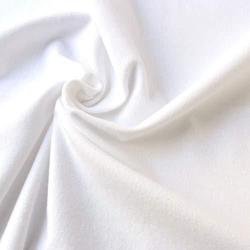 日本紐釦貿易 NBK ネル生地 白 12号純綿双糸 綿100% 両面起毛 巾約72cm×切売カット EBI500-72CUT-50CM