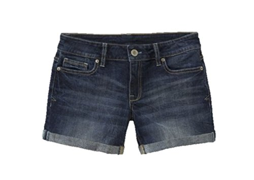 Aeropostale Women's Boyfriend Jean Shorts Dark Wash 0