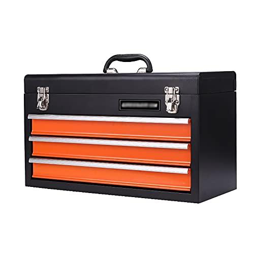 Cofre de la herramienta de acero portátil con cajones Caja de hardware Almacenamiento Organizador Gabinete Caja de herramientas de metal de trabajo pesado con rodamientos de bolas ( Size : 3drawer )