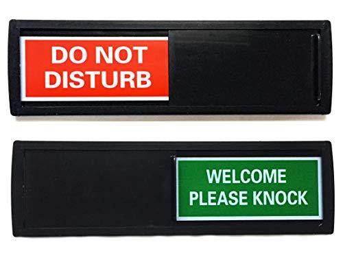 Schwarz Do Not Disturb Schild | Shutter Änderungen, wenn Sie Drücken ES | für Zuhause, Hotels, und Büros (Don 't Disturb, Willkommen Schilder)