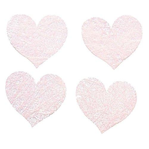 Chaks 0214-32 - Sachet 100 cœurs romance, Rose Pastel