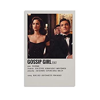 YTSLJ Room Aesthetic 90S for Classic Decoration Poster Gossip Girl Poster Decorative Painting Canvas Wall Art Living Room Posters Bedroom Painting 08x12inch 20x30cm