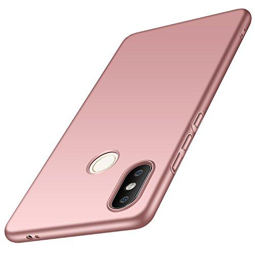 Anccer Funda Xiaomi Mi 8 SE [Serie Colorida] [Ultra-Delgado] [Ligera] Anti-rasguños Estuche para Carcasa Xiaomi Mi 8 SE (Oro Rosa Liso)