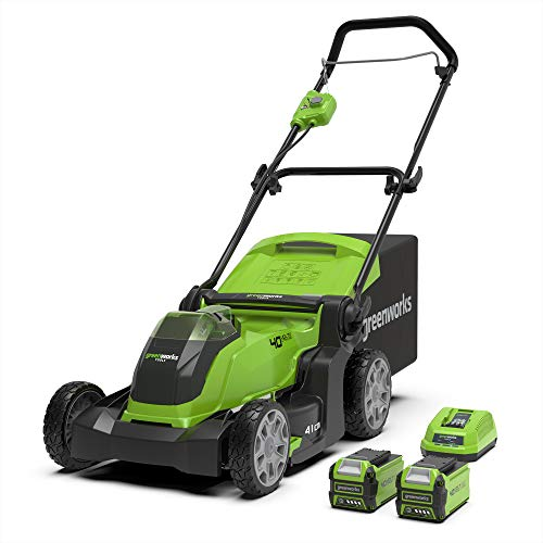 Greenworks Tondeuse à gazon sans fil sur batterie 41cm 40V Lithium-ion...