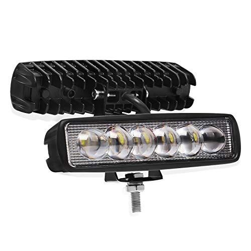 Barre lumineuse de travail de voiture de LED, 18w Spot conduite lumière antibrouillard une rangée hors route lumières LED feux de bateau étanche SUV 4X4 ATV 4WD lampe de camion 10-30V (16 pouces)