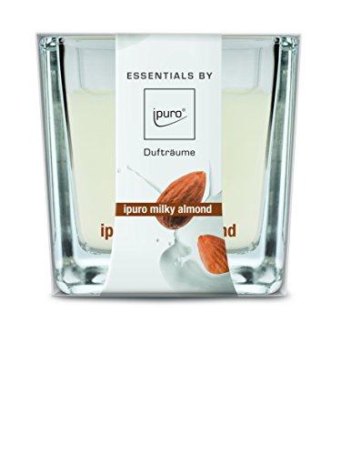 ipuro Essentials Duftkerze milky almond - Raumduft für ein sanftes Raumklima - Kerze mit hochwertigen Inhaltsstoffen (170 g) -Perfekt als Geschenk