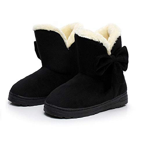 WMSLPHSF Botas de Tobillo para Mujer Zapatos cálidos de Invierno Mujer de...