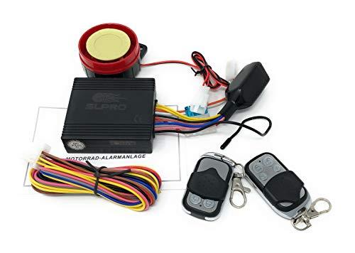 Impianto antifurto 12 V per moto, scooter o quad, con funzione di avvio motore + 2 telecomandi per tutti i motocicli con 12 V