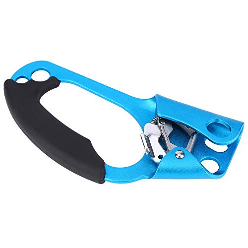 Junlucki Professional High Strength Rope Climbing Ascender, Climbing Ascender Riser, for Climbing Mountaineering(Blue)