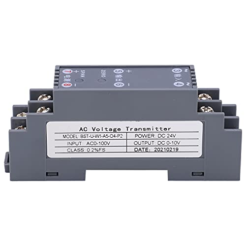 Voltage Transducer, Full Channel Configuration Stable Structure Practical Voltage Transmitter Voltage Transformer with ABS Material for Monitor Power Lines