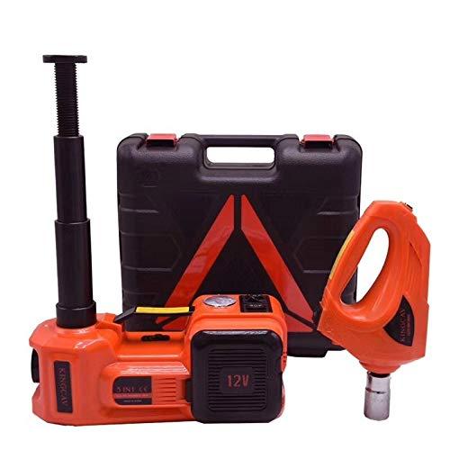POJAP 3 en 1 coche eléctrico Jack, bomba de aire eléctrica Llave Herramientas de mantenimiento Set (rojo) (Color : Rojo)