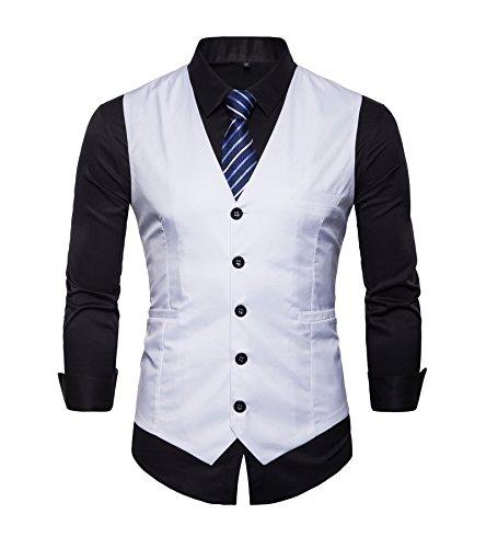 AYG, Weste für Herren Slim Fit, von M bis 3XL Gr. 52, white#VE03