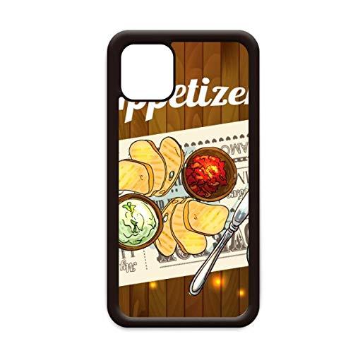 Voorgerecht sneetje Brood Wijn voor Apple iPhone 11 Pro Max Cover Apple mobiele telefoonhoesje Shell, for iPhone11