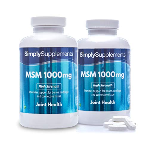 MSM 1000 mg - 360 compresse - 6 mesi di trattamento - SimplySupplements