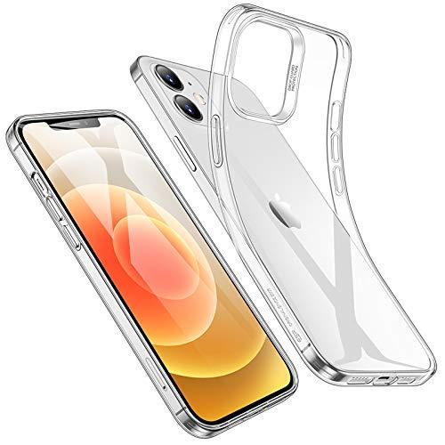 ESR Cover Compatibile con iPhone 12 e12 PRO, 6.1Pollici Ultra Sottile Custodia Morbida in Silicone, Trasparente