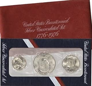 1976 S 3 PC Silver Mint Bicentennial Uncirculated
