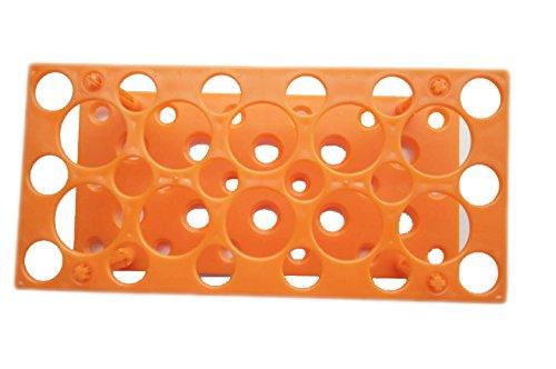 28 Well Centrifuge Tube Rack for 10ml/15ml/50ml Laboratory Plastic Tube Rack Holder(Pack of one) (Orange)