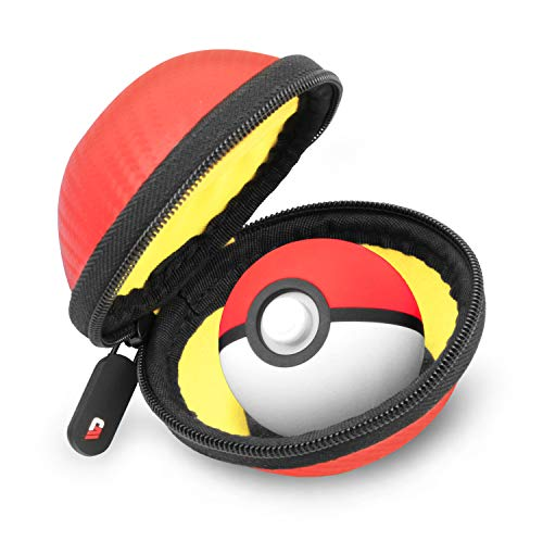 CASEMATIX Carry Case Compatible With Poké Ball Plus Controller Pokémon Lets Go Pikachu or Pokémon Eevee Game for Smartphone or Switch - INCLUDES CASE ONLY