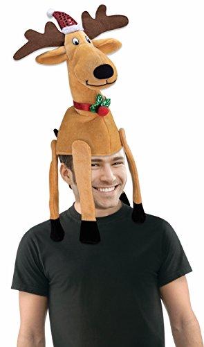 Forum Novelties Men's Novelty Reindeer Hat, Multi, 1 Pack