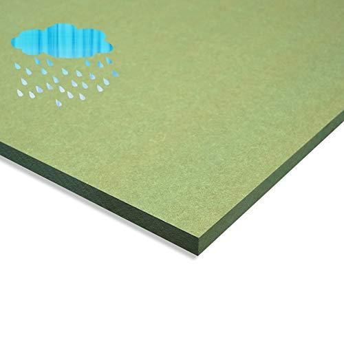 Packs de Tableros de Madera DM hidrófuga verde (MDF) de 10MM de Grosor, Disponibles A0, A1, A2, A3, A4, A5, Soporte para Bricolaje, Decoración, Pintura (5uds A3 (297x420 mm))
