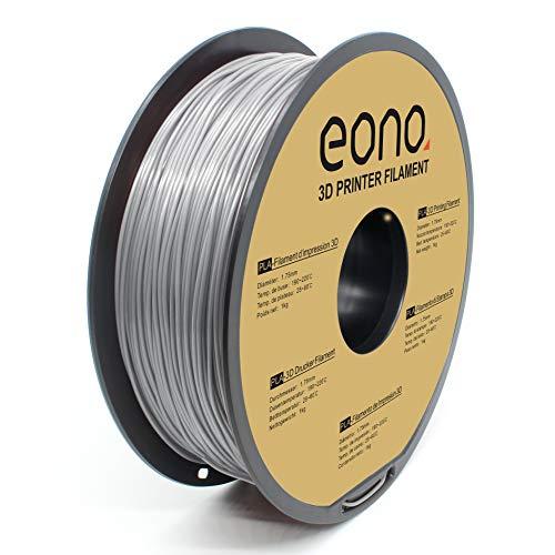 Amazon Brand -Eono Filamento PLA 1.75mm, PLA Filamento de Impresora 3D,Accuracy ± 0.03 mm,Gris PLA,1kg.
