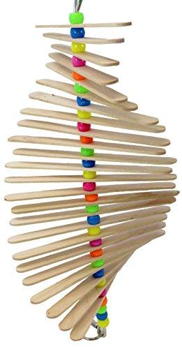 Bonka Bird Toys Long Mini Sticks Bird Toy Parrot cage Craft Cages Cockatiel Parakeet (Natural)