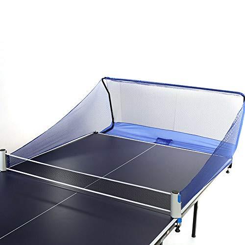 SHZICMY Red de pesca para pelotas de ping-pong de fibra de poliéster, 150 x 38 x 60 cm, color azul, para entrenamiento de tenis de mesa, multibalón, tenis de mesa, robots