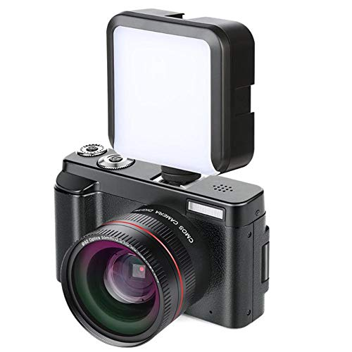 Mengen88 Cámara Vlogging, cámara Full HD 1080p 24.0MP, Pantalla IPS de 3.0 Pulgadas, Zoom Digital 16x, grabadora de cámara con función Anti-vibración y micrófono
