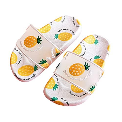 子供用サンダルアウトドアシューズ、 男の子用女の子用フルーツスリッパ、 サマービーチウォーターシューズ、 滑り止めバスシャワースリッパウォーキングスリッパ、 クイックドライプールスリッパ (Color : Pineapple, Size : Length 14)