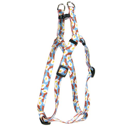 Yellow Dog Design Standard Step-in Harness, Bacon & Eggs, Small 9' - 15'