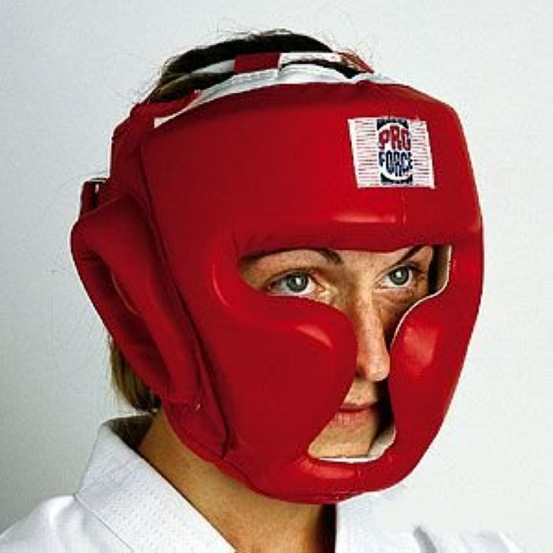 ProForce Full Headguard, Headgear (Red Vinyl) 1 packs