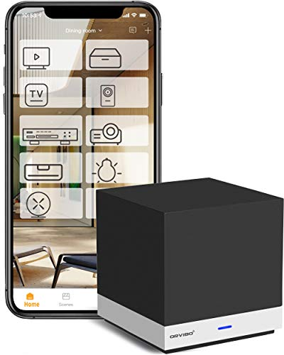 ORVIBO Smart Home Hub IR Blaster Universal Remote Control Mobile Phone & Voice Control to TV, STB, Projector, Sound, Fan, AC, Infrared Devices, Programmable Timer, Compatible with Alexa, Google, Siri