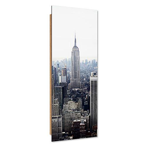 Feeby Dekobild New York Deko Wand Kunstdruck Architektur Grau 50x150 cm