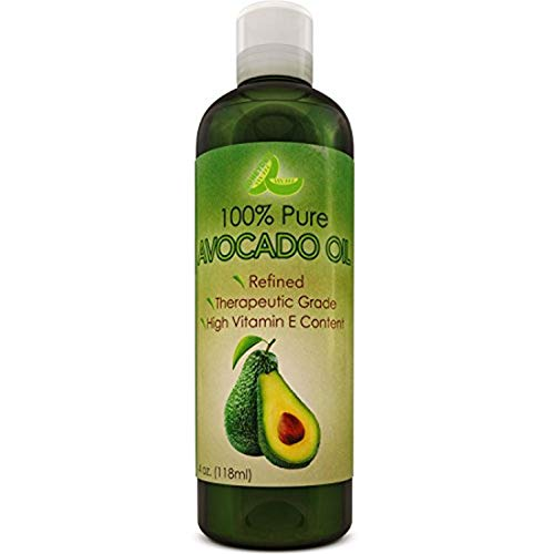 Avocado Oil For Hair Skin Nails Cold Pressed Antioxidant Nutrient Rich Oil Great as Massage Oil AntiAging AntiWrinkle Skin Care Shiny Hair With Vitamins A K E Healthy Fatty Acids for Women and Men