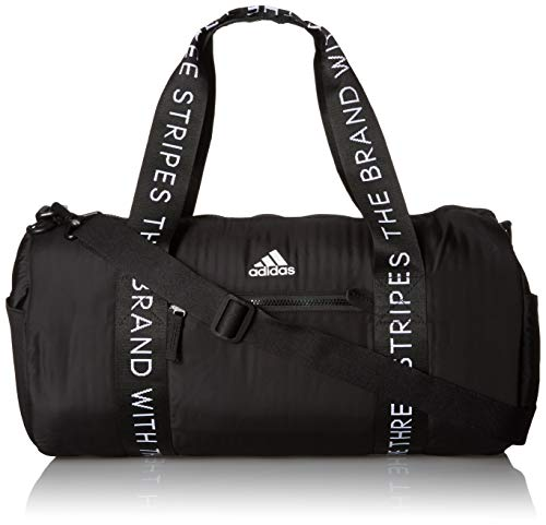 adidas Women's VFA Roll Duffel Bag, Black/White, ONE SIZE
