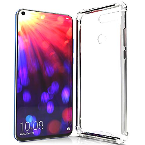 NewTop Cover Compatibile per Huawei Honor View 20, Semi Rigida TPU Hard Clear Anti-Shock Custodia Retro Antiurto Protettiva Trasparente Angoli Rinforzati (per Honor View 20)