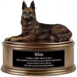 Perfect Memorials German Shepherd Figurine Cremation Urn