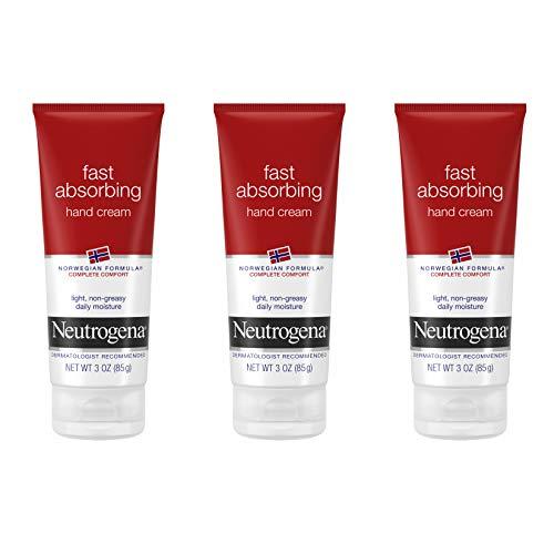 Neutrogena Norwegian Formula Fast Absorbing Hand Cream, 3 Oz (Pack of 3)
