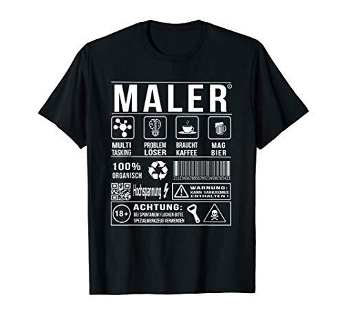 Lustiger Spruch Maler Lackierer Humor T-Shirt