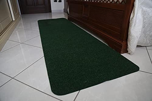 Tappeto/Passatoia Multifunzione in Moquette - Adatto per Cucina e Bagno - Antiscivolo - Elevata Resistenza - Mis. h 67 x 200 cm (Verde)