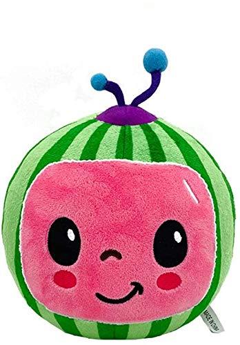 FURUDONGHAI Cocomelon Toys Melon Plush Toys for Boy Girl Soft Stuffed Kids Birthday Gift Toys