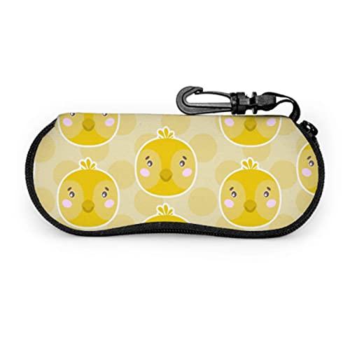 Tcerlcir Estuche para anteojos Estuche para anteojos, diseño lindo con cara de pollo Estuche blando Estuche para anteojos ultraligero Estuche para gafas de sol, 17x8cm