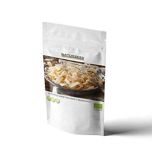 NATURSEED - Chips de Coco Ecológico - Sin Azúcares Añadidos - 100% Natural - Sin Aditivos ni Conservantes (Tostado 250GR)