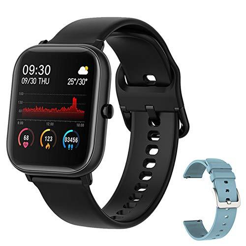ZYDZ P8 Smartwatch IP67 Reloj Inteligente A Prueba De Agua Ritmo Al Corazón De Las Mujeres Monitoreo De La Presión Arterial Modo De Ejercicio De Seguimiento Fitness para Hombres para iOS Android,C
