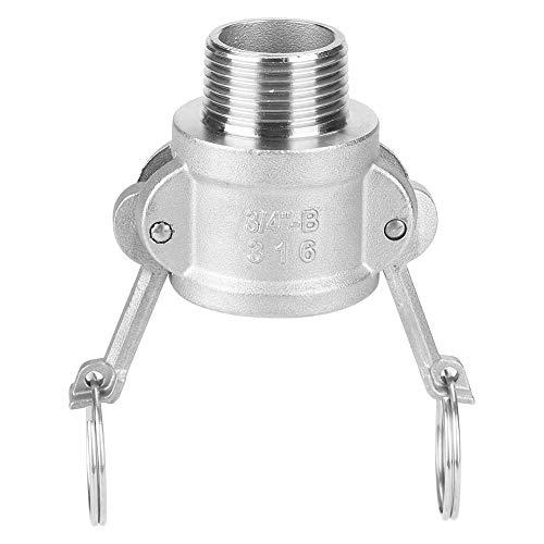 Adaptador de bomba de basura - Acero inoxidable DN20 3/4'B Adaptador de bomba de basura Conector Camlock hembra con roscas de tubería macho