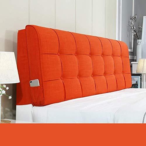 Auto lumbale kussen Muur plakken Linnen Headboard Kussen Doek Zachte Package Big rugleuning Pillow Taille grote kussen (Color : C, Size : 110 * 58cm)