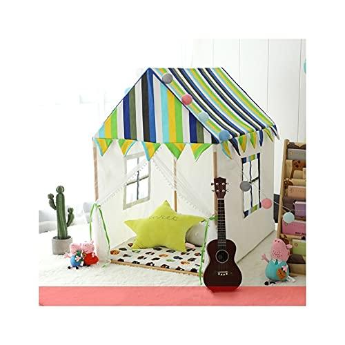 FEANG Tienda Play Kid's Play Tienda de Juegos para niños del niño con Estera de Piso, niños Playhouse Teepee Reading Corner Camping Tienda de campaña Carpa (Color : B)