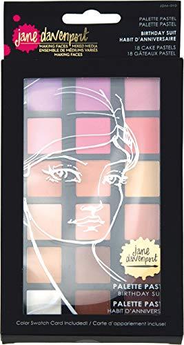 Spellbinders Jane Davenport-Palette Combinaison d'anniversaire Pastel Mixed, 18